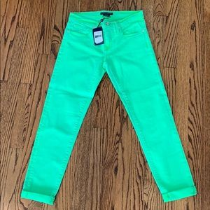 Ralph Lauren Bright Green Jeans (size 26)